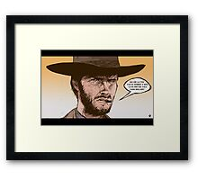THE GOOD, THE UGLY AND THE BAD- SERGIO LEONE Framed Print