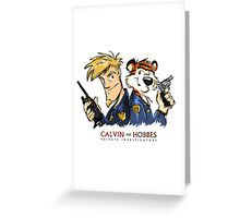 Calvin And Hobbes Private Investigation Greeting Card