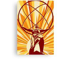 Atlas Art Deco Canvas Print