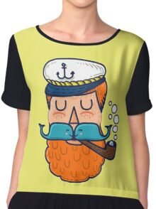 Moby Dick Beard Chiffon Top