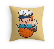 Moby Dick Beard Throw Pillow