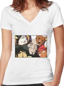 COWBOY BEBOP #01 Women's Fitted V-Neck T-Shirt