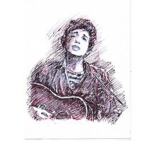 BOB DYLAN PORTRAIT IN INK Photographic Print