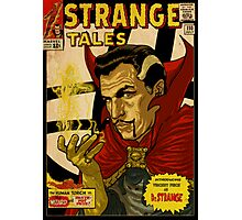 VINCENT PRICE AS DR. STRANGE- RETRO COMIC COVER Photographic Print