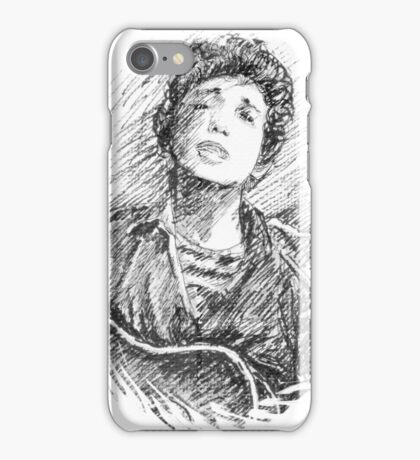 BOB DYLAN PORTRAIT IN INK iPhone Case/Skin