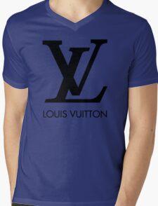 LOUIS VUITTON Mens V-Neck T-Shirt