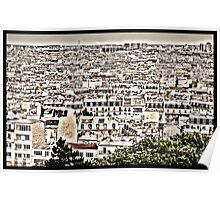 Paris from Mont Martre Poster