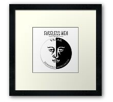Faceless Men  Framed Print
