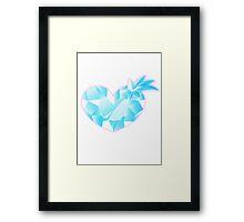 Space Patrol Luluco Crystal Heart Framed Print