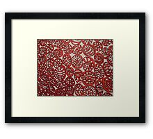 RED ROLLERS ABSTRACTHING Framed Print