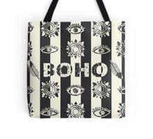 Boho eyes and sun. Tribal print Tote Bag