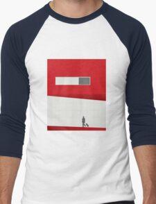 Funky Little Red Building Men's Baseball ¾ T-Shirt