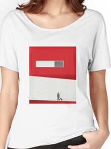 Funky Little Red Building Women's Relaxed Fit T-Shirt