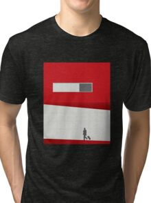 Funky Little Red Building Tri-blend T-Shirt