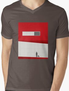 Funky Little Red Building Mens V-Neck T-Shirt