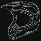 Mx Helmet White by Tessai-Attire