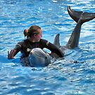 Having Fun With The Dolphin by RickDavis
