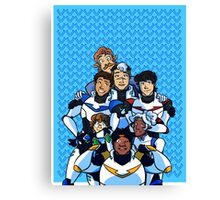 Family Portrait in Space Canvas Print
