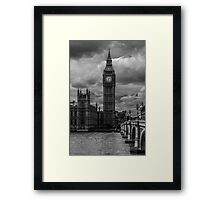 Big Ben - black & white Framed Print