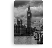 Big Ben - black & white Canvas Print