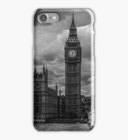 Big Ben - black & white iPhone Case/Skin