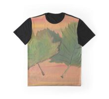 Acrylic Autumn Leaves Graphic T-Shirt