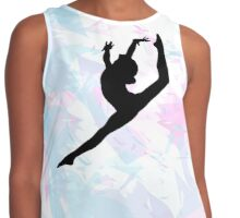 Water Colour Gymnastics Silhouette  Contrast Tank