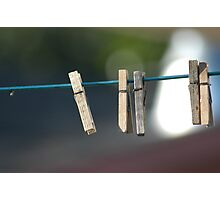Clothes Pins. Photographic Print