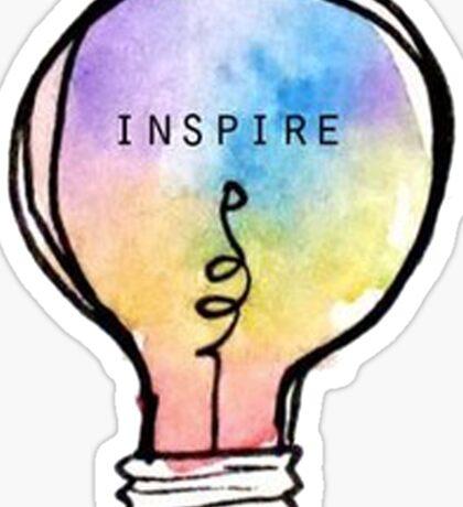 Inspire lightbulb Sticker