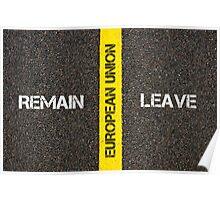 Antonym concept of remain versus Leave of UK in European Union Poster