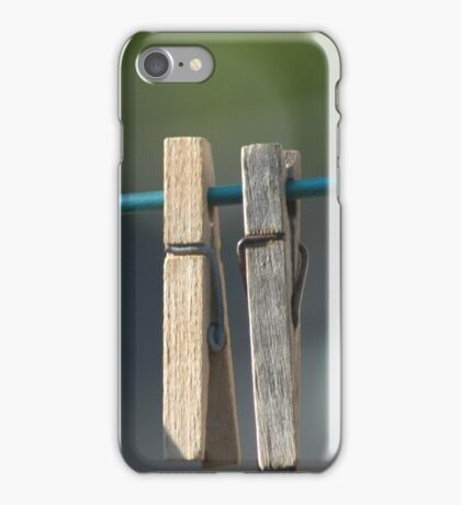 Clothes Pins. iPhone Case/Skin