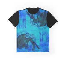 Blue Elephant Graphic T-Shirt