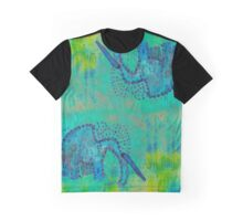 Green Elephant Graphic T-Shirt