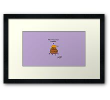 Why is Trump So hard to swallow? Framed Print