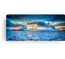 CLOUDS OVER WATER Canvas Print