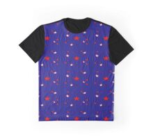 Patriotic Stars and Stripes Abstract Graphic T-Shirt