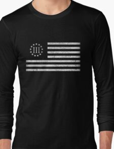 III Percent Oath Keepers Long Sleeve T-Shirt