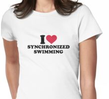 I love Synchronized swimming Womens Fitted T-Shirt