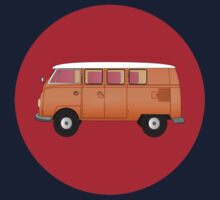 Volkswagen Combi T-Shirt Van Fan Club Sticker Kids Tee