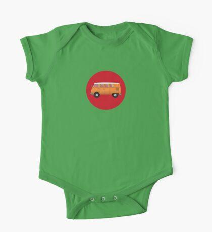 Volkswagen Combi T-Shirt Van Fan Club Sticker One Piece - Short Sleeve