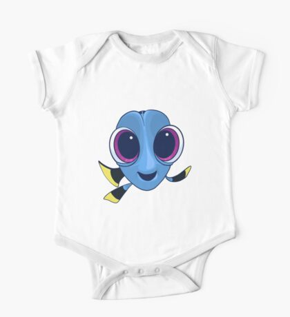 Baby Dory Blue Tang Design One Piece - Short Sleeve