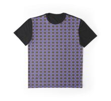 Blue and Brown Pattern Graphic T-Shirt