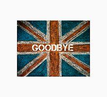 BREXIT concept over British Union Jack flag, GOODBYE message Unisex T-Shirt