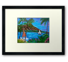 Aloha Diamond Head 11 Framed Print