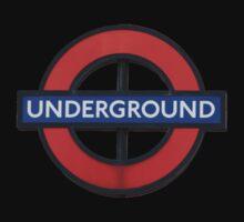 London Underground Sticker - The Tube Sign T-Shirt One Piece - Short Sleeve