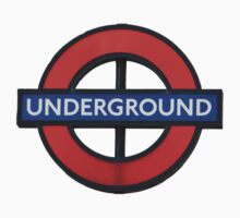 London Underground Sticker - The Tube Sign T-Shirt One Piece - Short Sleeve