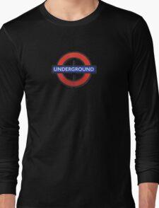 London Underground Sticker - The Tube Sign T-Shirt Long Sleeve T-Shirt