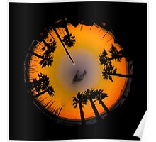 Planet Palm Trees - Tequila Sunrise Poster
