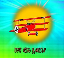 The Red Baron WW1 Fighter Ace - pillow & tote by Dennis Melling