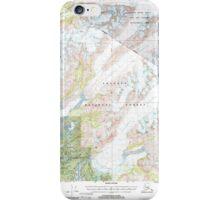 USGS TOPO Map Alaska AK Cordova C-4 355183 2000 63360 iPhone Case/Skin